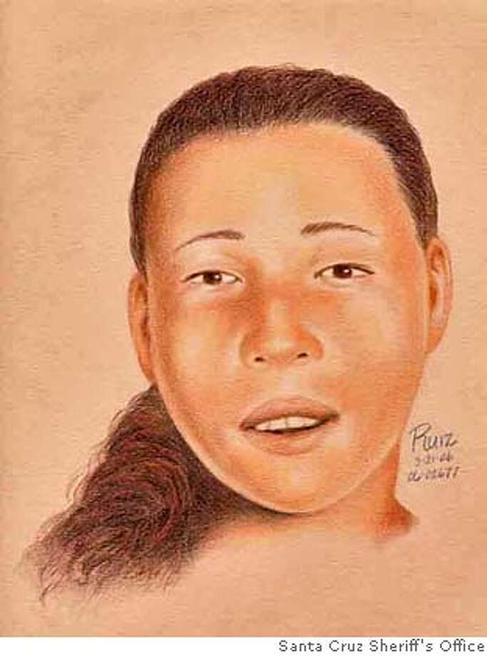 the Greyhound Rock homicide victim. It is likely  she is from the SF bay area. Jane Doe burned body was found on 3/18/2006 in a remote area of the North Coast of Santa Cruz county known as Greyhound Rock. Photo: Santa Cruz Sheriff's Office