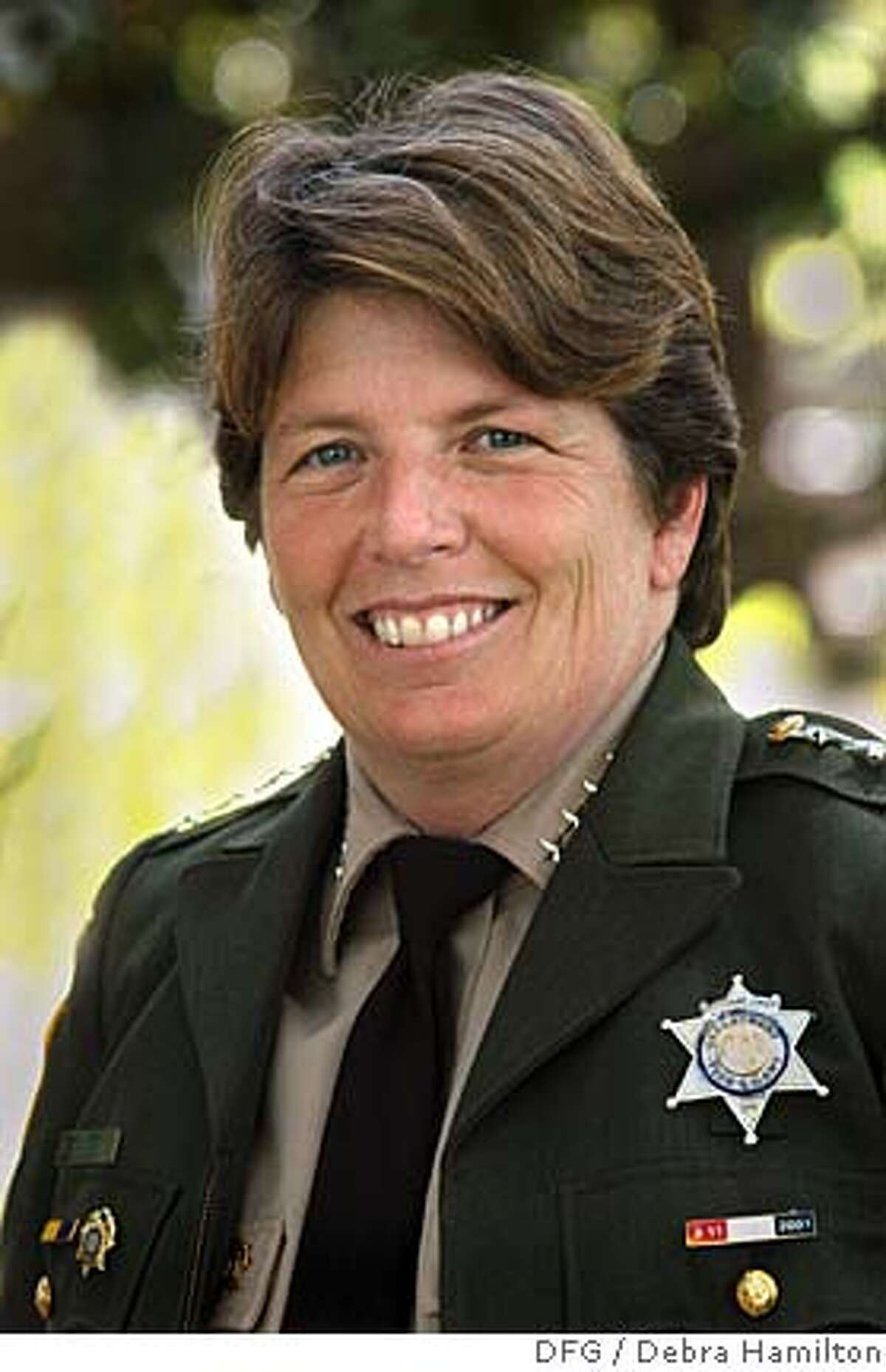 Photo of Nancy Foley Credit: DFG Photos by Debra Hamilton Ran on: 09-23-2007 DFG executive Nancy Foley warns an impending shortage of game wardens is tragic. Ran on: 09-23-2007 DFG executive Nancy Foley warns an impending shortage of game wardens is tragic.