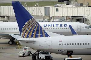 Photos of United/Continental airplanes at Terminal C at Bush Intercontinental Airport,Tuesday, April 19, 2011, in Houston.  ( Karen Warren / Houston Chronicle )