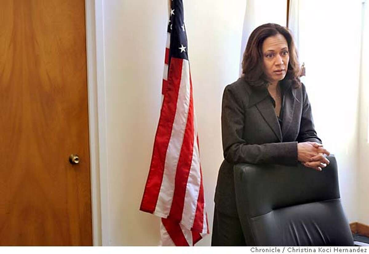 CHRISTINA KOCI HERNANDEZ/CHRONICLE We're doing a two year anniversary story on SF District Attorney Kamala Harris.
