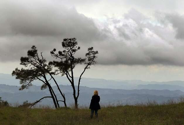Cathy Grills from Oakland takes in the view from Mt Diablo State Park Saturday, March 17, 2012, in Walnut Creek, Calif. Photo: Lance Iversen, The Chronicle