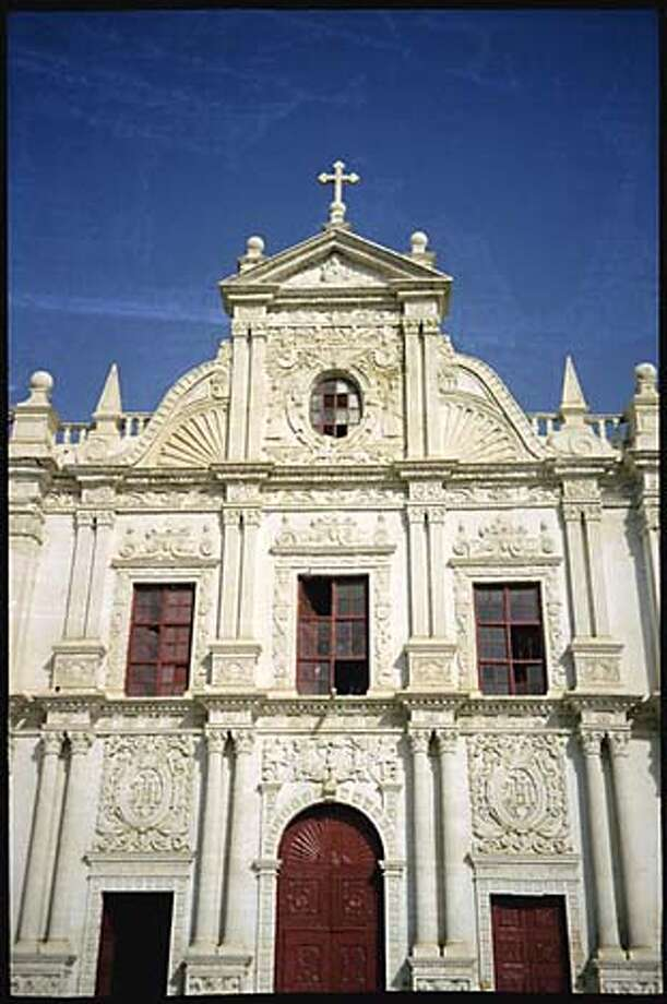 The 400-year-old St. Paul Church in Diu Town is the largest Portuguese Catholic church on the island. Photo by Rolf Potts, special to the Chronicle