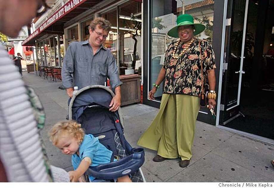 cityexposed_dewson00065_mk.JPG theCity Exposed  the Mayor of Fillmore a recent Friday 11:48 a.m. Locals are constantly stopping Ruth Dewson just to say hi or simply to admire today�s hat. These days San Francisco�s infamous hat lady seems to spend less and less time at the little shop on Fillmore Street she opened 31years ago. Now, when she�s not attending big business meetings or lunching with a presidential candidate you might find her strutting around the neighborhood checking up on an old friend across the street celebrating a birthday or gossiping with the corner grocer. Sometimes she pops in on some of her dearest friends at the senior center down the way to reminisce about good times past and new things to accomplish. Mrs. Dewson is still here and so is her City. 9/14/07. Mike Kepka/The Chronicle (cq) MANDATORY CREDIT FOR PHOTOG AND SF CHRONICLE/NO SALES-MAGS OUT Photo: Mike Kepka