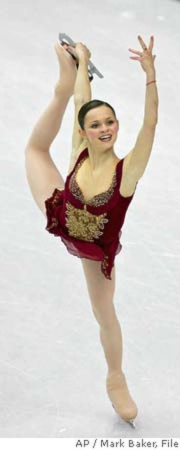 Silver medalist Sasha Cohen of the United States performs her routine during the Women's Figure Skating final at the Turin 2006 Winter Olympic Games in Turin, Italy, Thursday, Feb. 23, 2006. (AP Photo/Mark Baker) Photo: MARK BAKER
