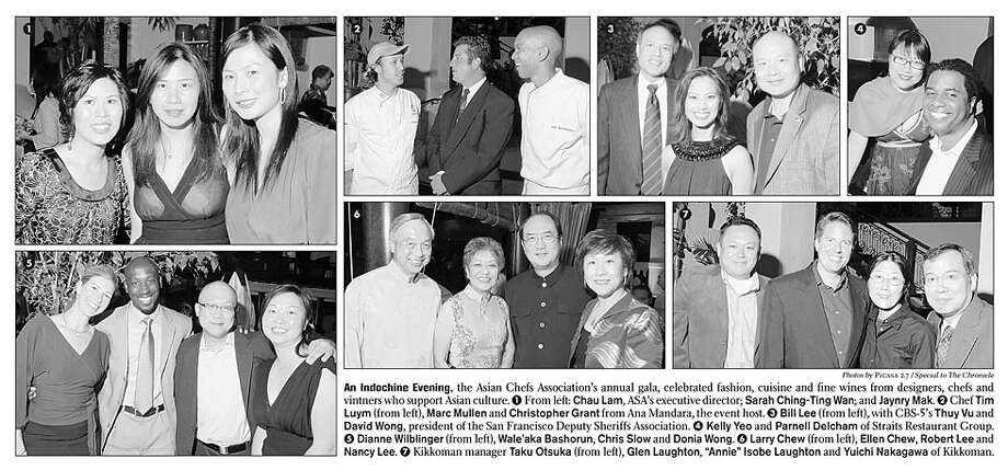 An Indochine Evening, the Asian Chefs Association's annual gala, celebrated fashion, cuisine and fine wines from designers, chefs and vintners who support Asian culture. Photos by Picasa 2.7, special to the Chronicle