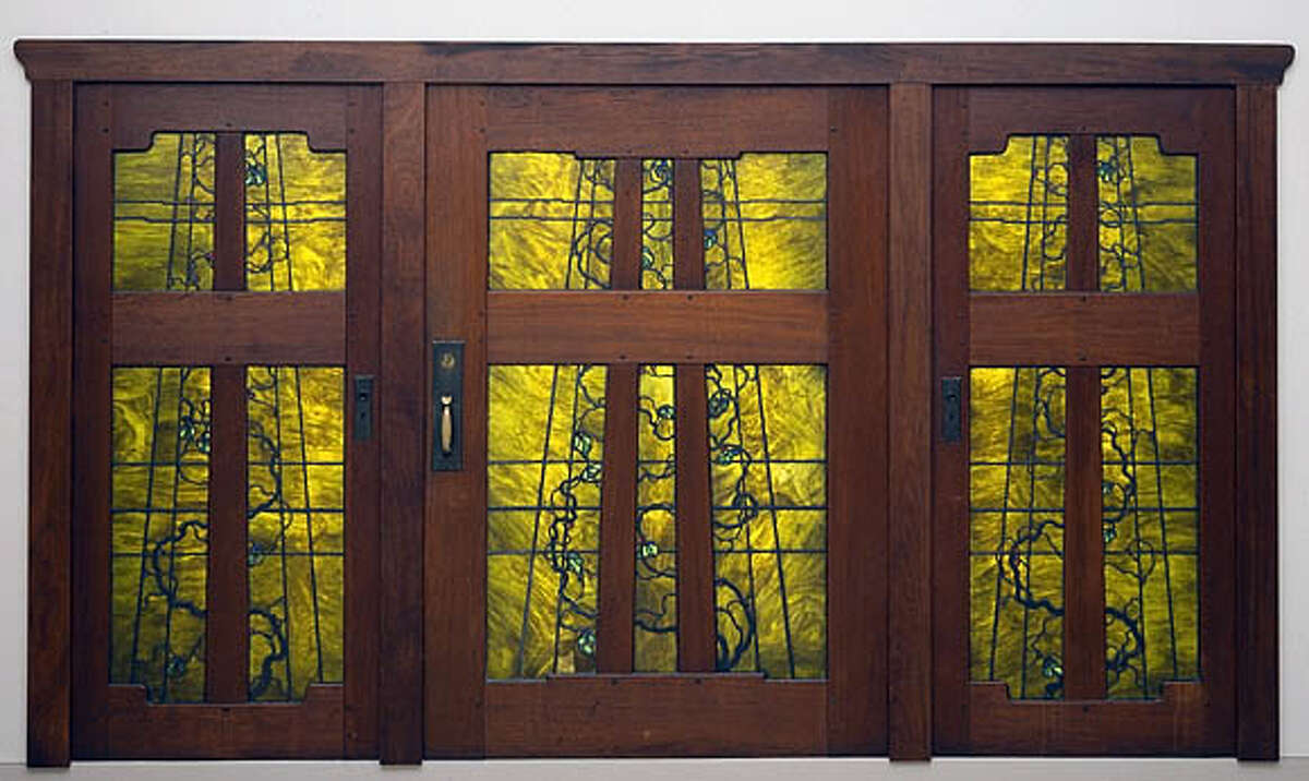 Doors by Greene & Greene, whose work may be the zenith of West Coast Arts and Crafts creativity. Photo courtesy of the M.H. de Young Museum