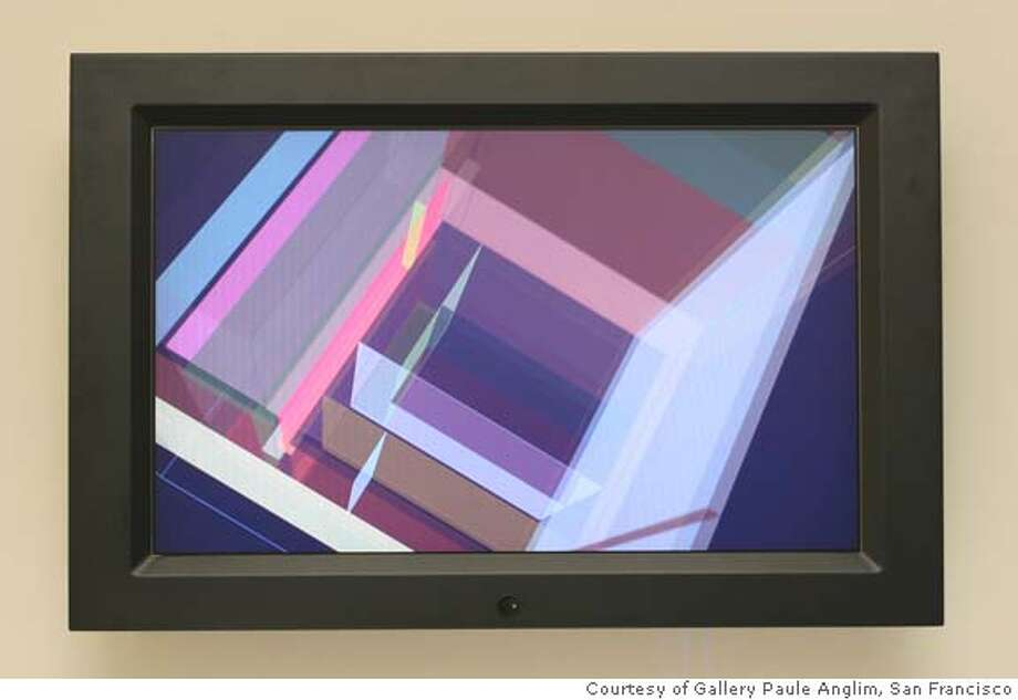 """""""Elevation"""" (2005) Custom software, custom LCD w/PC by Shirley Shor. Photo: Courtesy of Gallery Paule Anglim, San Francisco Photo: Courtesy Of Gallery Paule Anglim"""