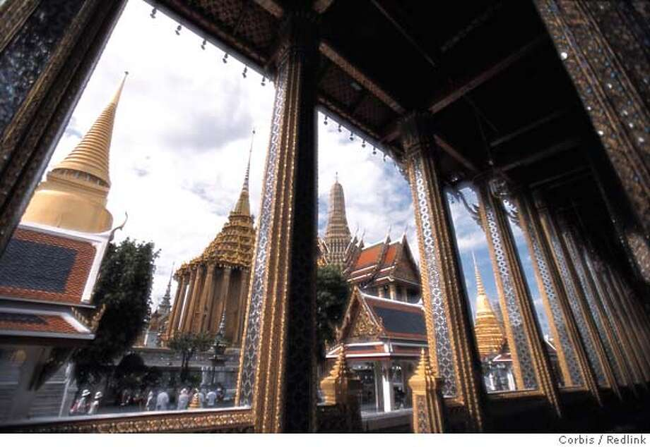 1782-1784, Bangkok, Thailand --- The Wat Phra Kaeo is a famous landmark in Bangkok. Its temple complex was built in 1782 and served as the royal chapel. --- Image by � Redlink/Corbis Photo: � Redlink/Corbis