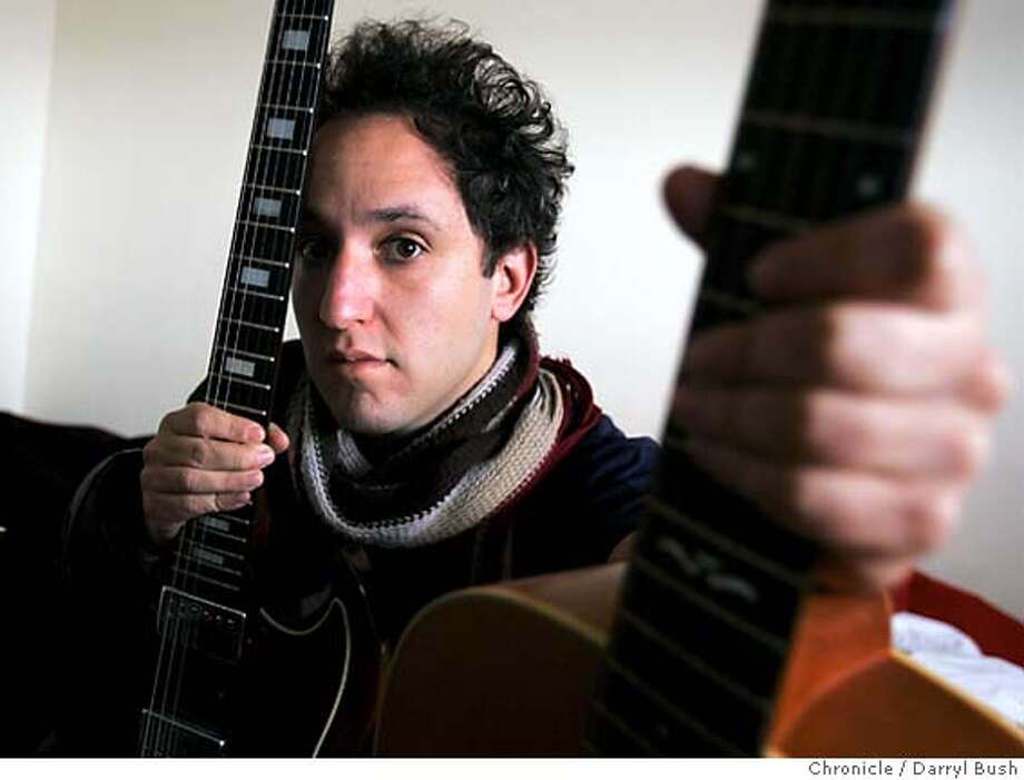 essential16_0019_db.JPG  Ezra Feinberg with his guitars in his home. Feinberg has a band called, Citay.  Event on 3/10/06 in San Francisco.  Darryl Bush / The Chronicle Photo: Darryl Bush