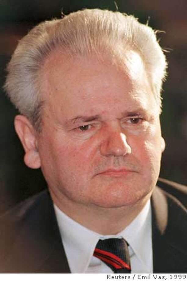 File photo of Yugoslav President Milosevic addressing the media after talks with Belarussian President Lukashenko in Belgrade Photo: EMIL VAS