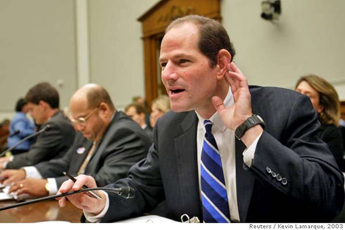 ELIOT SPITZER LISTENS AT HOUSE COMMITTEE HEARING ON MUTUAL FUND ABUSES
