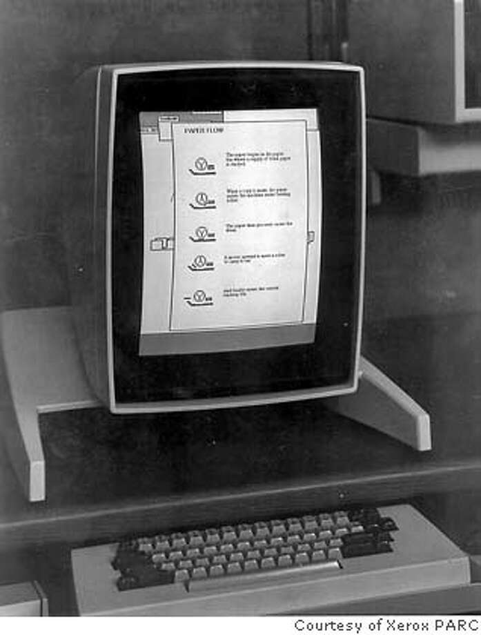 TECH-ALTO-B-23DEC99-BU-HO--ALTO, WHICH WAS DEVELOPED BY XEROX PARC, WAS THE FIRST PERSONAL COMPUTER IN THE WORLD AND THE FIRST WITH GRAPHICAL USER INTERFACE. IT WAS DEVELOPED IN 1973, ALTHOUGH THIS VERSION WAS FROM 1975. PHOTO COURTESY XEROX PARC. ALSO RAN 10/25/2000 Photo: Xerox Parc