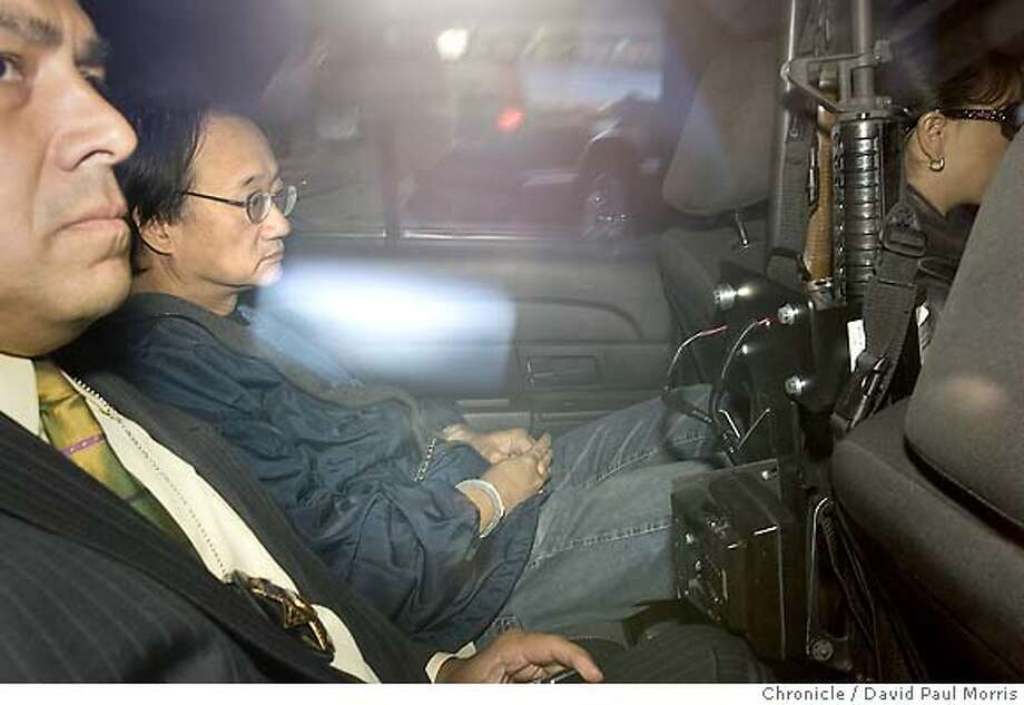REDWOOD CITY, CA - SEPTEMBER 20 Fugitive fundraiser Norman Hsu arrives at the San Mateo County jail where he faces a 15-year-old felony theft conviction September 20, 2007 in Redwood City, California. (Photo by David Paul Morris/The Chronicle) Photo: David Paul Morris