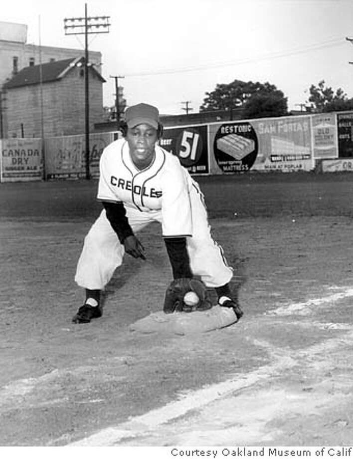 Another Negro League postcard. In this photo Toni Stone is in uniform for the New Orleans Creoles, whom she played with from 1949-52. Photo: Courtesy Oakland Museum Of Calif