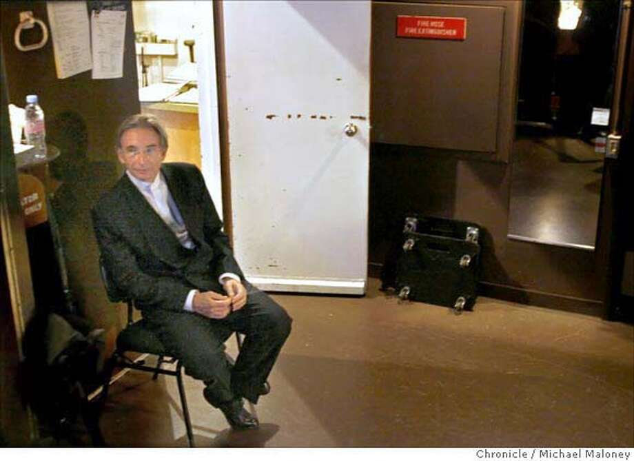 San Francisco Symphony Director Michael Tilson Thomas waits backstage prior to his entrance at the Louise M. Davies Symphony Hall on 9/19/07 in San Francisco, CA. Photo by Michael Maloney / San Francisco Chronicle  ***Michael Tilson Thomas Photo: Michael Maloney