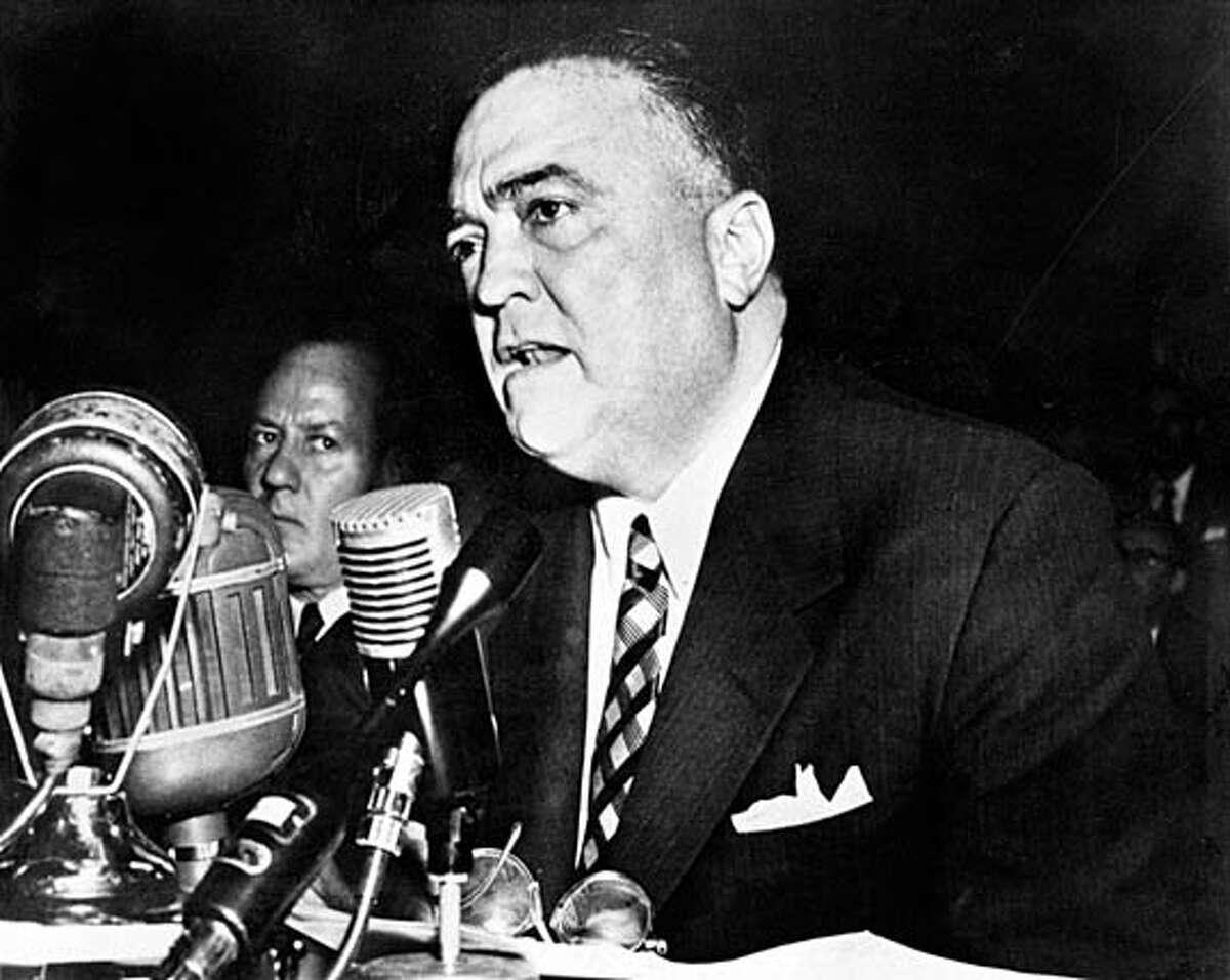 FBI's J. Edgar Hoover. Chronicle File Photo