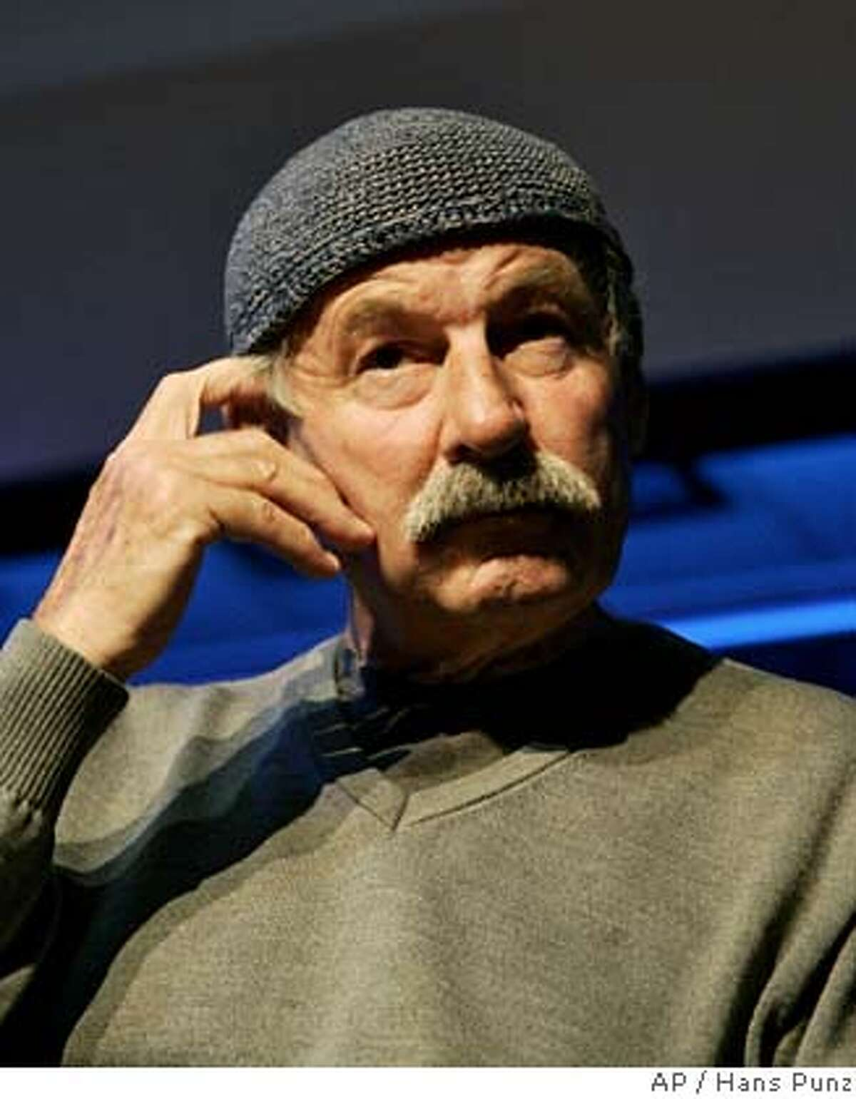 ** FILE ** Austrian born composer and Jazz musician Joe Zawinul listens to a journalist's question during a press conference in Vienna, on Monday, Oct. 2, 2006. Jazz legend Zawinul, who soared to fame in the 1950s as one of the world's greatest jazz pianists and both performed and recorded with Miles Davis, has died at a Viennese hospital at the age of 75, on Tuesday, Sept. 11, 2007. (AP Photo/Hans Punz, file) OCT. 2, 2006 FILE PHOTO