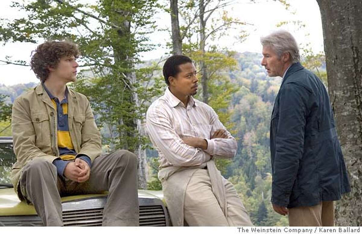 In this photo provided by The Weinstein Company, Jesse Eisenberg, Terrence Howard and Richard Gere star in The Hunting Party. (AP Photo/The Weinstein Company) The Weinstein Company / Karen Ballard Ran on: 09-20-2007 Jesse Eisenberg, (from left), Terrence Howard and Richard Gere in The Hunting Party. Ran on: 09-20-2007 Ran on: 09-20-2007 Ran on: 09-20-2007