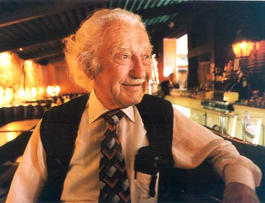 Photo by Ante Rodin.Ran on: 03-12-2006  Ante &quo;Tony&quo; Rodin operated Original Joe's in the Tenderloin since 1937. Until recent years, he came to the restaurant every day. Photo: Sfc