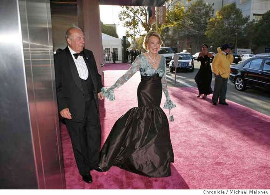 George Schultz and Charlotte Maillard Schultz arrive at the Louise M. Davies Symphony Hall on 9/19/07 near San Francisco, CA. Photo by Michael Maloney / San Francisco Chronicle  ***George Schultz, Charlotte Maillard Schultz MANDATORY CREDIT FOR PHOTOG AND SF CHRONICLE/NO SALES-MAGS OUT Photo: Michael Maloney