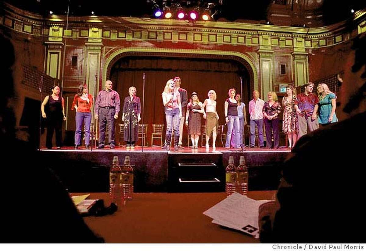 SAN FRANCISCO, CA - SEPTEMBER 15: People try out during open auditions at Beach Blanket Babylon September 15, 2007 in San Francisco, California. (Photo by David Paul Morris/The Chronicle)