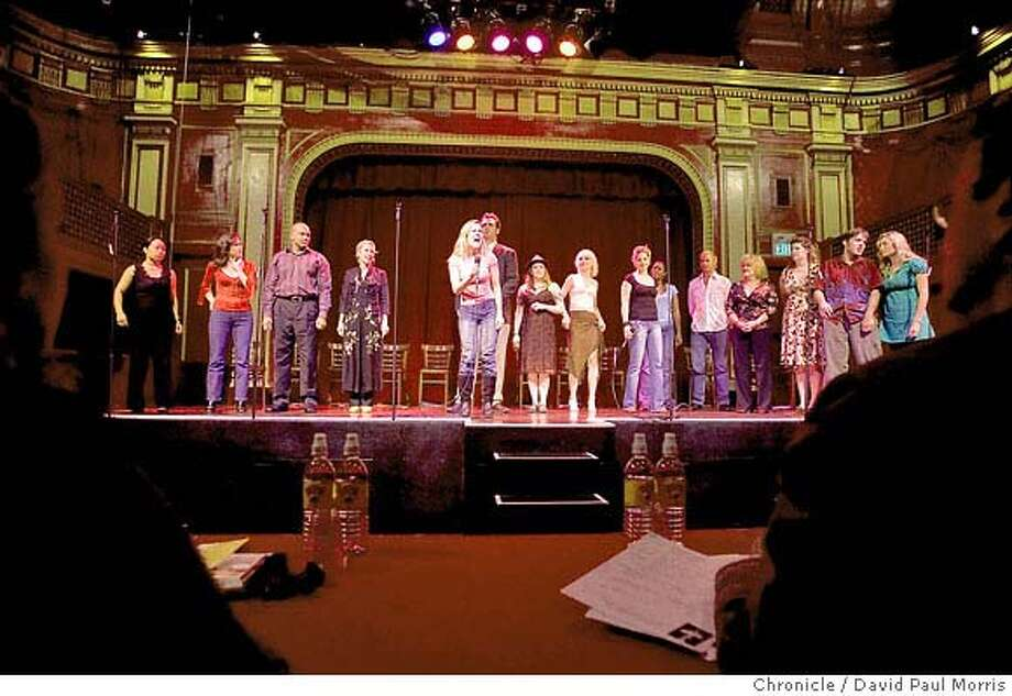 SAN FRANCISCO, CA - SEPTEMBER 15: People try out during open auditions at Beach Blanket Babylon September 15, 2007 in San Francisco, California. (Photo by David Paul Morris/The Chronicle) Photo: David Paul Morris