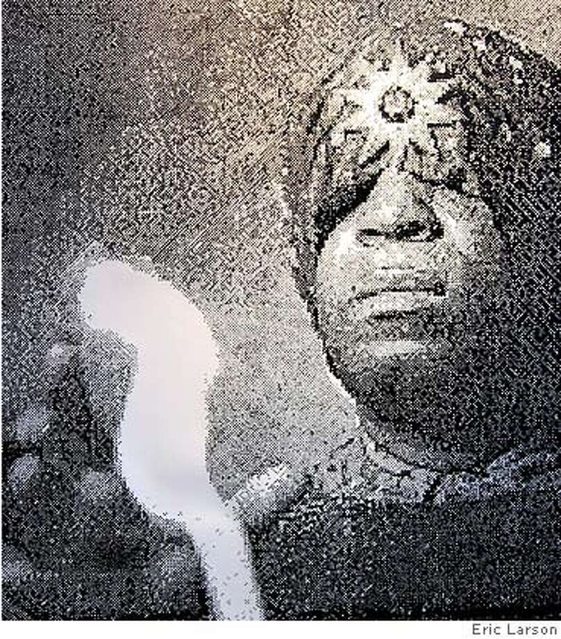 Eric Larsons Sun Ra won one a Jurors Prize at the 24th Annual National Juried Exhibition Ran on: 09-20-2007  For his work &quo;Sun Ra,&quo; above, Eric Larson was one of four artists to receive a Jurors Prize at the 24th Annual National National Juried Exhibition. Photo: Eric Larson