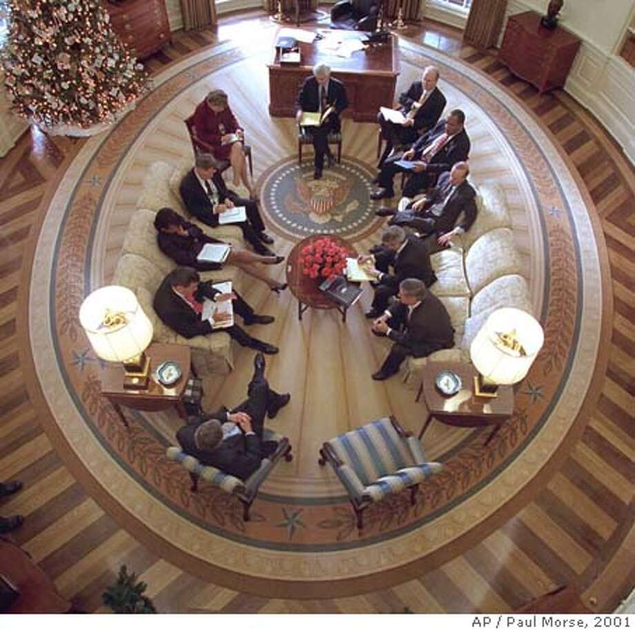 oval office rug. President Bush Hosts A Meeting In The Oval Office Decorated With New Presidential Rug S