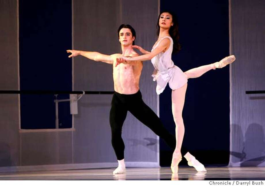 """sfballet09_0010_db.JPG  San Francisco Ballet's Ruben Martin and Yuan Yuan Tan, perform the ballet, """"Afternoon of a Faun"""" at the War Memorial Opera House.  Event on 3/7/06 in San Francisco.  Darryl Bush / The Chronicle MANDATORY CREDIT FOR PHOTOG AND SF CHRONICLE/ -MAGS OUT Photo: Darryl Bush"""