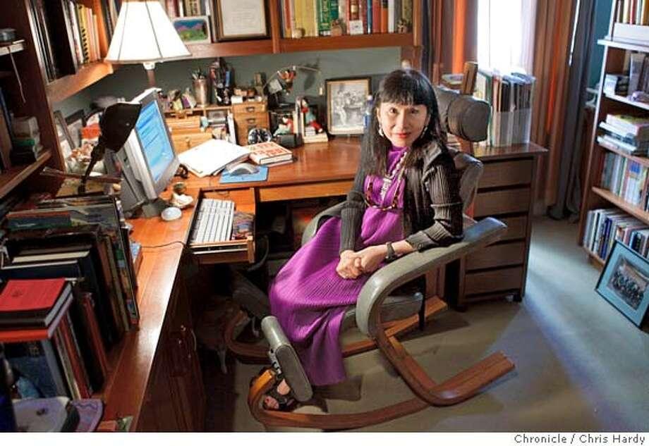 amytan_ch_076.jpg  Author Amy Tan in her dimly lit office. in San Francisco  8/29/05 Chris Hardy / San Francisco Chronicle Ran on: 10-30-2005  Amy Tan Photo: Chris Hardy