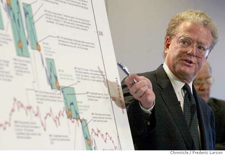 Lead attorney William S. Lerach talks about the University of California lawsuit against Enron in San Francisco, Monday, April 8, 2002. The 500-page complaint, filed on behalf of large investors and led by the University of California, said the banks and law firms raked in massive fees while financing and approving sham deals that hid debt and inflated profits. (AP Photo/San Francisco Chronicle, Frederic Larson)  ALSO RAN: 06/11/2005  William Lerach is the lead attorney in the University of California's lawsuit against the failed Enron Corp.  Ran on: 09-16-2006  William Lerach has sued Hewlett-Packard over the scandal.  Ran on: 09-19-2007  Attorney William Lerach describes a suit against Enron in 2002. Photo: FREDERIC LARSON