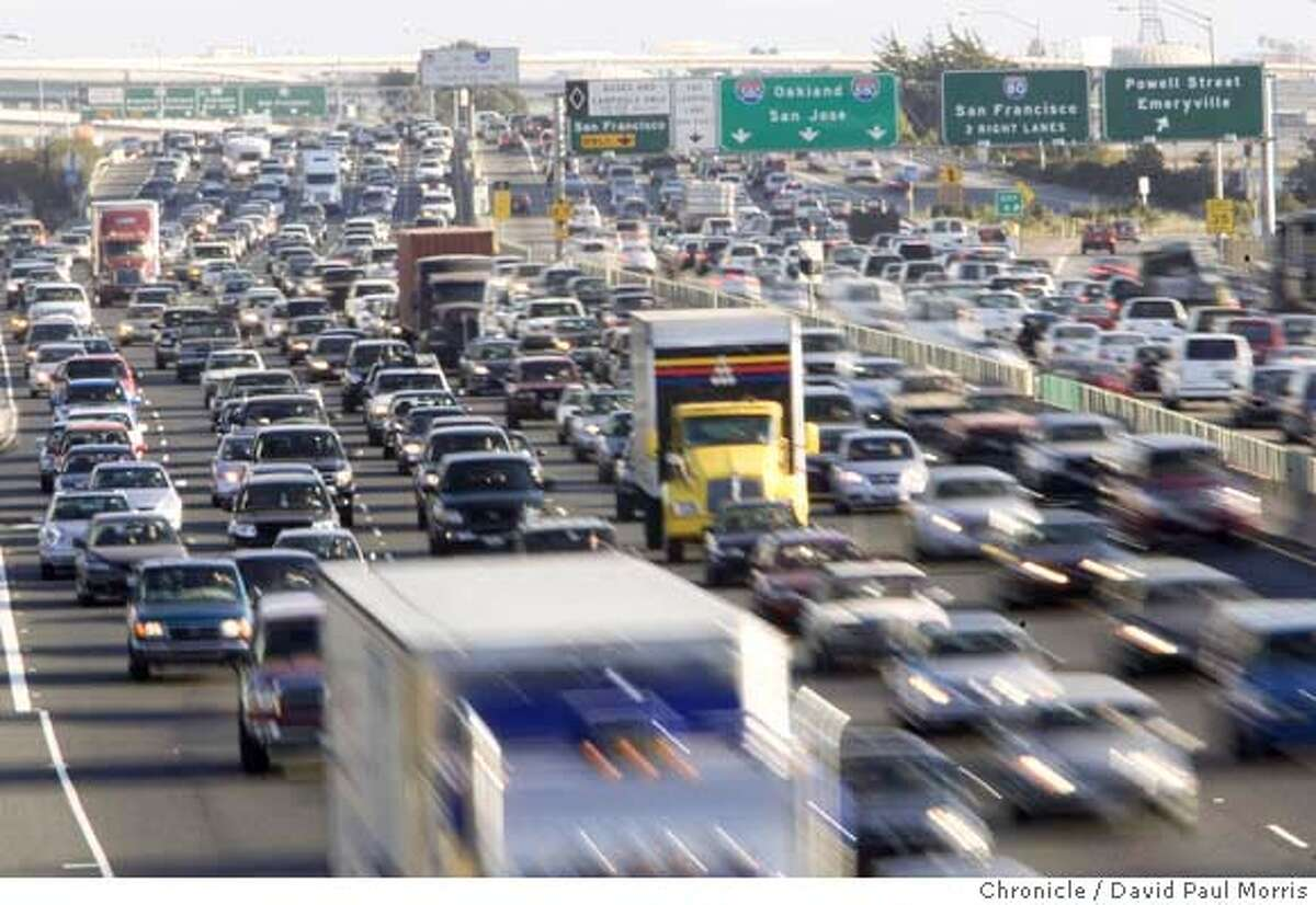 BERKELEY, CA - SEPTEMBER 17: Traffic is seen on Highway 80 September 17, 2007 in Berkeley, California. (Photo by David Paul Morris/The Chronicle)