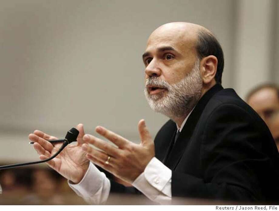 U.S. Federal Reserve Chairman Ben Bernanke listens to a question at a House of Representatives Financial Services Committee hearing monetary policy and the state of the economy, on Capitol Hill in Washington in this July 18, 2007 file photo. The Fed cut the key interest rate 1/2 point on September 18, 2007, to 4.75 per cent. REUTERS/Jason Reed/Files (UNITED STATES) 0 Photo: JASON REED