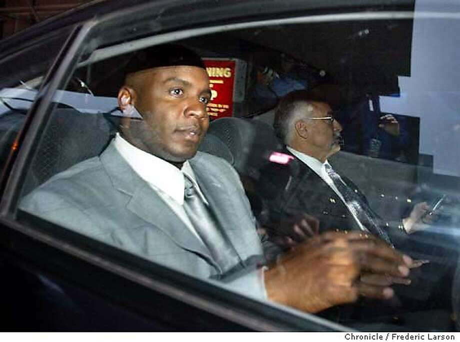 ; Barry Bonds departs from the San Francisco Federal Court House after testifing before a federal grand jury investigating the suspected distribution of illegal performance-enhancing drugs by two men closely associated with the San Francisco Giants star. Bonds' personal weight trainer, Greg Anderson, and his nutritionist, Victor Conte of the Bay Area Laboratory Co-Operative (BALCO), are targets of the investigation, according to a defense lawyer. Investigators hope to take down an alleged drug ring suspected of supplying steroids and other banned performance-enhancing drugs to top-level athletes, said a source familiar with the probe. Anderson and Conte are the central figures under investigation. The Chronicle; Photo: FREDERIC LARSON