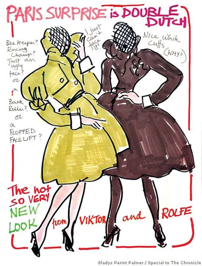 """In this special report, artist and """"Fashion People'' (Assouline Press) author Gladys Perint Palmer captures the lunacy and excitement of this annual rite of passage for the Beautiful People and their fashion muses."""