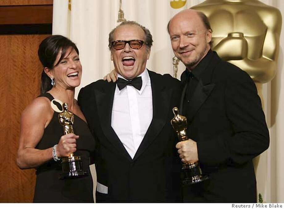 Best Picture Winners Cathy Schulman And Paul Haggis With Their Oscars At The 78th Annual Academy