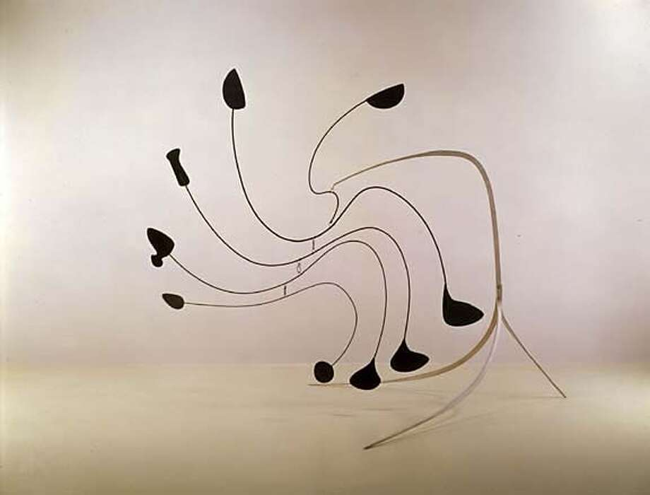 09.	Alexander Calder, The Spider, 1940; sheet metal, wire, and paint; 95 x 99 x 73 inches. Nasher Sculpture Center, Dallas; � 2005 Estate of Alexander Calder/Artists Rights Society (ARS), New York Photo: � 2005 Estate Of Alexander Calde