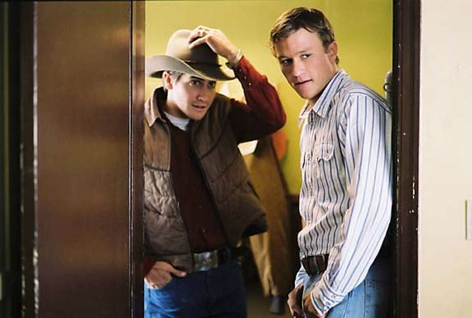 "Still from the movie, ""Brokeback Mountain,"" with stars Heath Ledger and Jake Gyllenhaal. Photo: Courtesy of Focus Features Ran on: 11-30-2005  Ennis Del Mar (Heath Ledger, above) falls in love with Jack Twist (Jake Gyllenhaal) in &quo;Brokeback Mountain,&quo; about itinerant ranch hands in 1960s Wyoming. The film opens Dec. 9. Photo: Courtesy Of Focus Features"