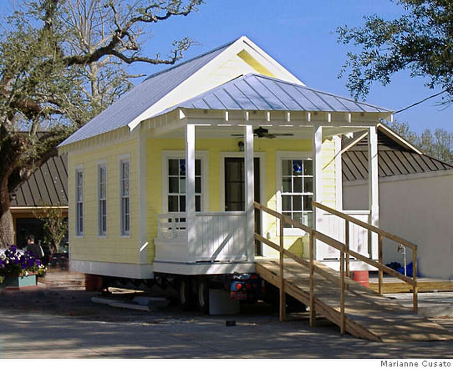 the little house that roared a tiny cottage designed for katrina rh sfgate com katrina cottages price katrina cottages lowes cost