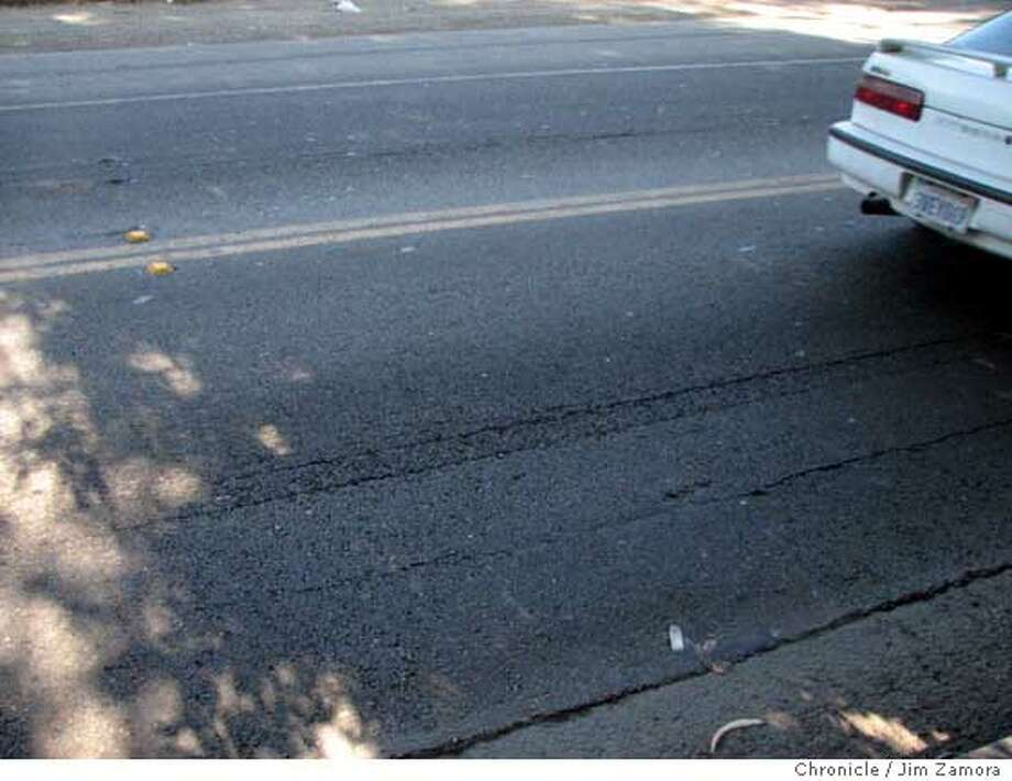 These are grooves in the road in El Sobrante Jim Zamora/The Chronicle  Ran on: 09-18-2007 Photo: Jim Zamora