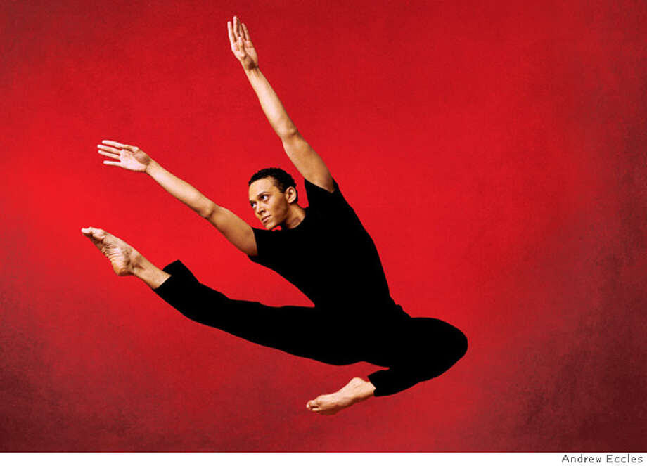 Clifton Brown of Alvin Ailey American Dance Theater. Judith Jamison's New York-based dance company returns for its annual Cal Performances residency, performing a mixture of new works and beloved classics February 28 - March 5, 2006. Photo by: Andrew Eccles Photo: X
