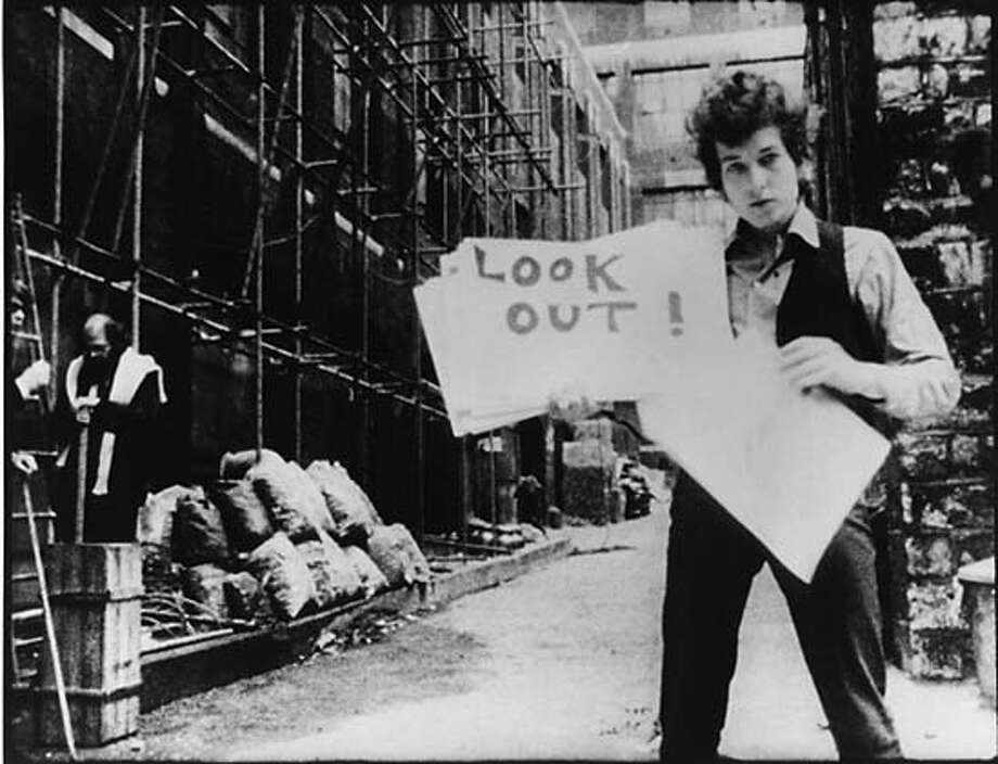 "Bob Dylan in, ""Don't Look Back."" Credit: Still from Leacock's ""Don't Look Back"" Photo: Still From Leacock's ""Don't Look"