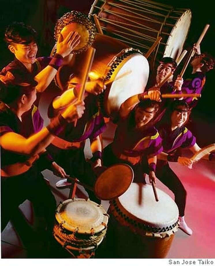The San Jose Taiko presents Rhythm Spirit 2005. Photo: Handout
