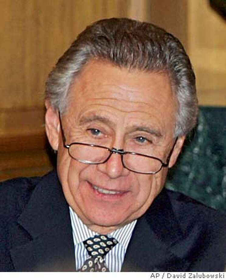 ** FILE ** Denver billionaire Philip F. Anschutz, is seen at a Junior Ranger luncheon hosted by Anschutz in the Phipps Mansion in east Denver in this Thursday, Oct. 20, 2005, file photo. Anschutz, 66, announced Tuesday, Feb. 28, 2006, he will retire as a director of Qwest Communications, Union Pacific Railroad and Regal Entertainment Group so he can concentrate on his growing private empire. (AP Photo/David Zalubowski) THURSDAY, OCT. 20, 2005 FILE PHOTO Photo: DAVID ZALUBOWSKI