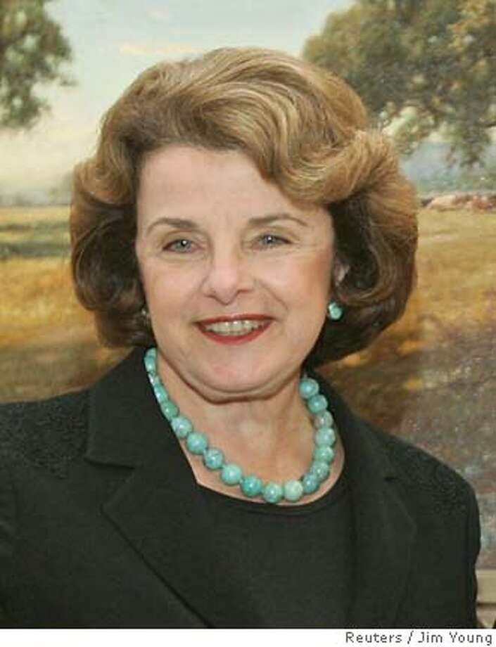 Supreme Court nominee Harriet Miers meets with Senator Feinstein in Washington Photo: JIM YOUNG