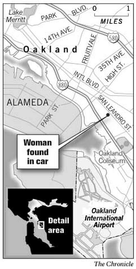 Woman Found in Car. Chronicle Graphic