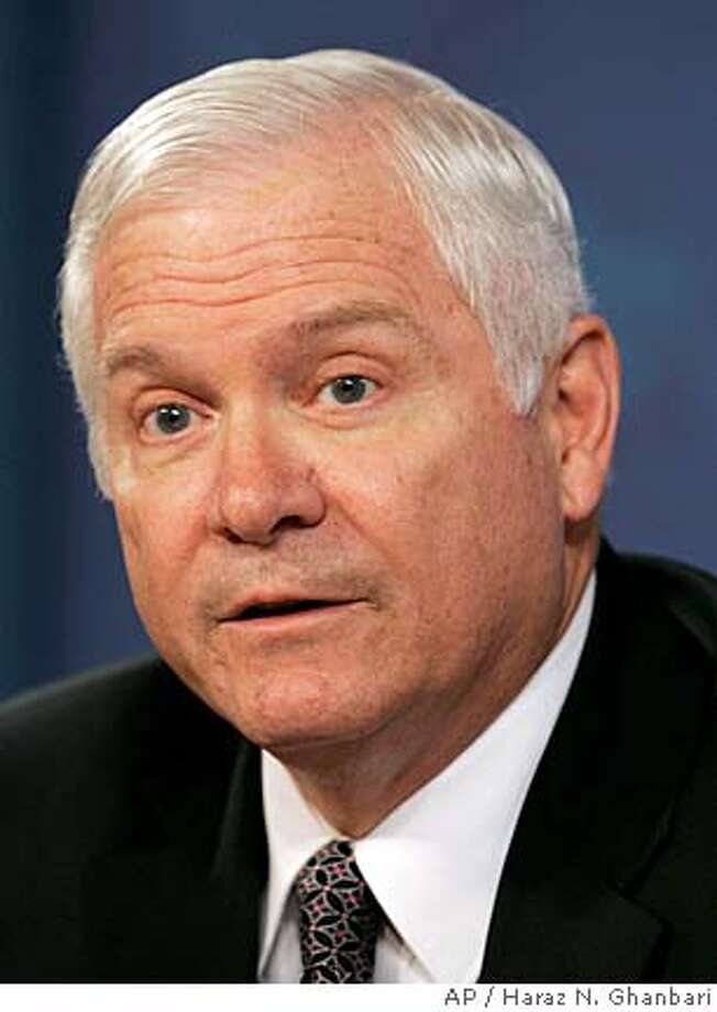 Defense Secretary Robert Gates answers a question during a Pentagon briefing, Friday, Sept. 14, 2007. (AP Photo/Haraz N. Ghanbari) Photo: Haraz N. Ghanbari