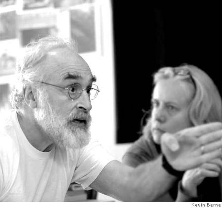 Jeffrey DeMunn as King Lear with Lisa Petersen, Director. alifornia Shakespeare Theater 2007 Photo Credit: Kevin Berne Photo: Kevin Berne