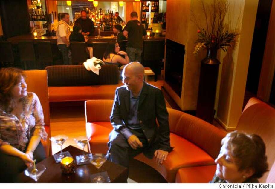 N.V. Restaurant and Lounge in Napa has a lively bar scene. Chronicle photo by Mike Kepka