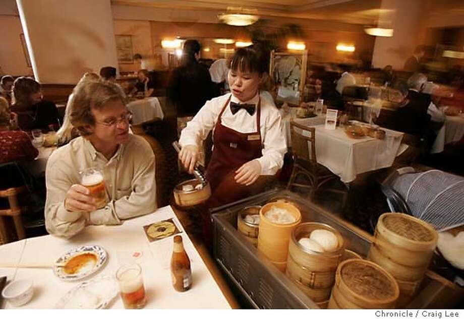 Immigrants brought dim sum to the United states and vastly expanded its offerings, such as the array at San Francisco's popular Yank Sing restaurant. Chronicle file photo, 2005, by Craig Lee